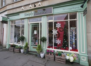 Simply Flowers Wiltshire Shopfront Autumn