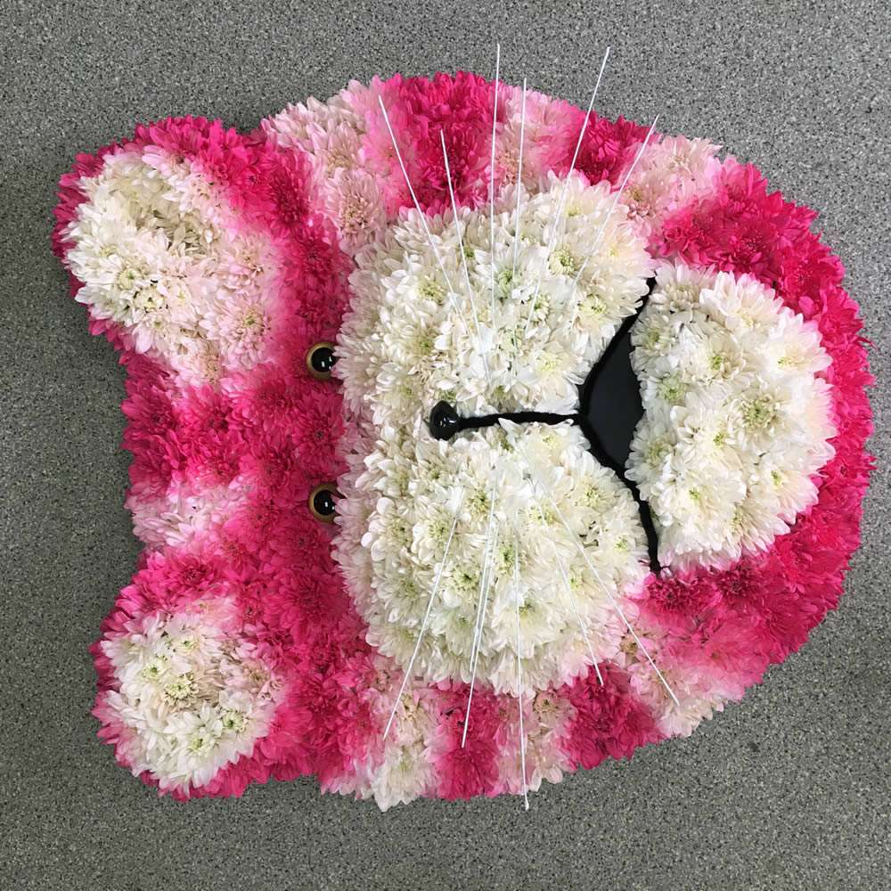 Bespoke floral tribute in 2d or 3d shapes simply flowers wiltshire 9 bagpuss izmirmasajfo